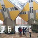 At the Cube Houses in Rotterdam