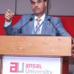 Presidential Address by Prof. Kamlesh Misra (Vice-Chancellor, Ansal University), in the presence of Dr. A.K. Malhotra (Dean-SMS, Ansal University), Mr. Rajeev Chawla (Chairman- IamSMEofIndia), Dr. M. P. Poonia (Vice-Chairman, AICTE) on the dias