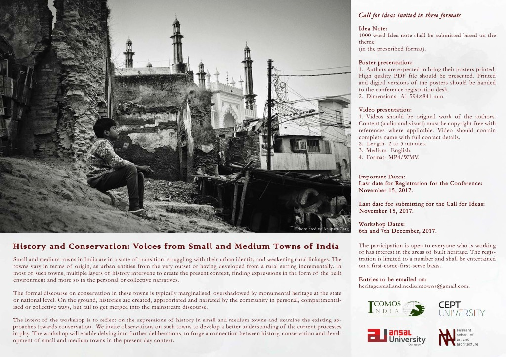 History and Conservation: Voices from Small and Medium Towns of India